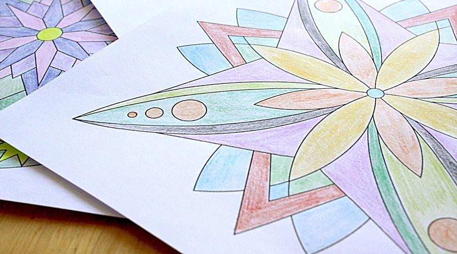Unser neues Familien-Hobby: Mandalas malen