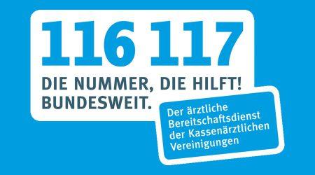Neue Notdienstnummer 116 117